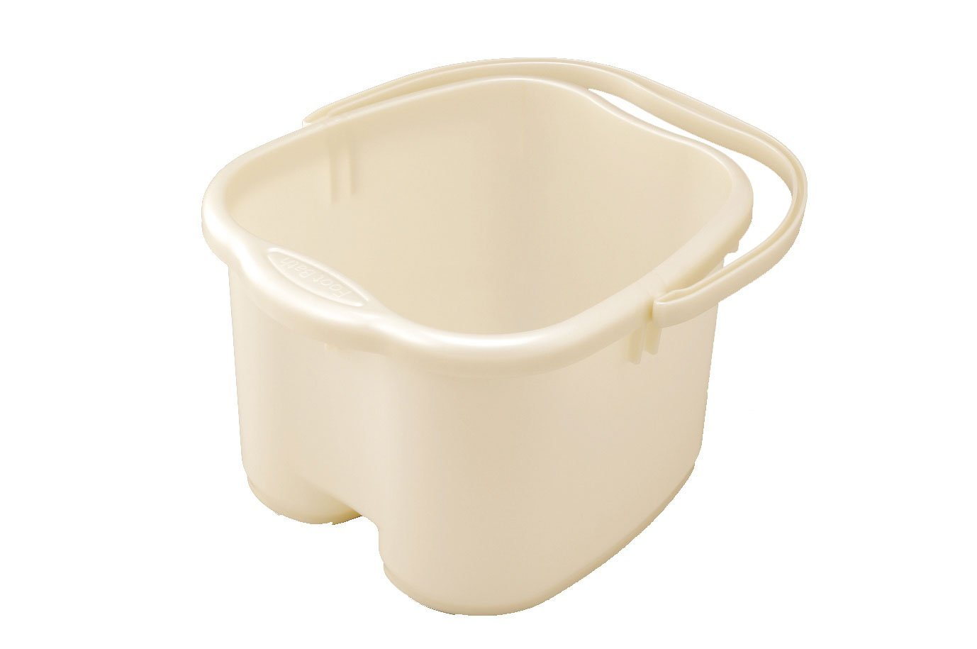 Inomata Pearl Foot Detox Massage Spa Bucket, White 2500