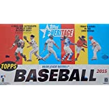 2015 Topps Heritage MLB Baseball Factory Sealed HOBBY Box with 24 Packs and 225 Cards ! Includes Autograph or...