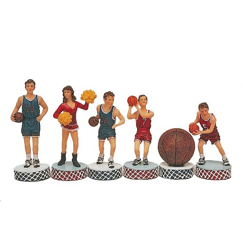 Basketball Chessmen by Wood Expressions