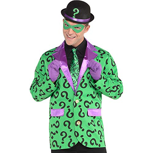 SUIT YOURSELF Batman Riddler Costume Accessory Supplies for Adults, One Size, Include a Hat, a Tie, Gloves, and a Mask -