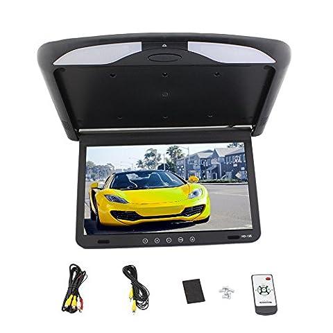 New Hot Sale HD 15.6 inch USB SD HDMI FM SPK Car 1080P Car Roof-mount/Flip down/Car Ceiling Wide/Over head/Drop Down LCD Monitor - Ceiling Mount Flip Down Lcd