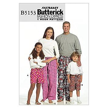 Einfach Unisex Erwachsene Butterick Schnittmuster 5153 – Schlafanzug ...