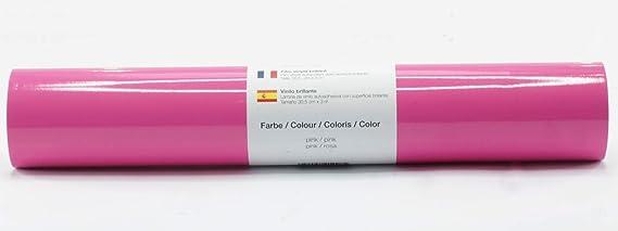 Lámina de plotter autoadhesiva lámina de vinilo 21 cm x 3 m brillo 39 colores a elegir, Glänzend L-Serie:Rosa: Amazon.es: Hogar