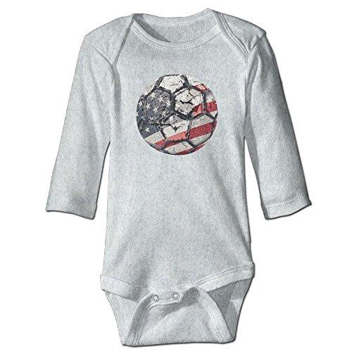 A Flag Graphic Romper Clothes Ash Baby Romper ()