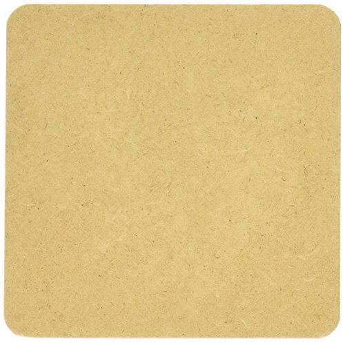 Bulk Buy: Darice DIY Crafts Coaster Set MDF Square 6 pack 4 x 4 inches (3-Pack) 9190-112