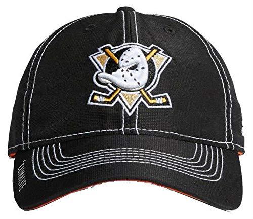 adidas NHL Hockey Anaheim Ducks Cap Hat Slouch Dobby ADJ Climalite CY1159 Black ()