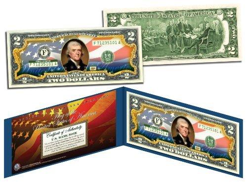 United States of America Flag New Design Legal Tender $2 Bill FULLY...