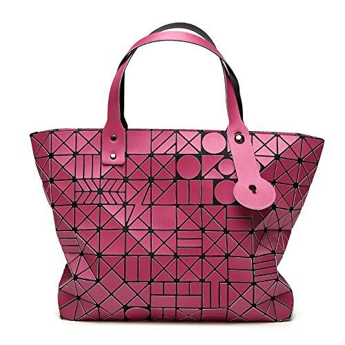 Hologram 50cm Laser Diamond Bag mano Matte Designer Lady Bao Bolsas bolsos 30cm Length Geometry de Women Fold Baobao Max Bag White Silver Bao Lattice vaqwBB