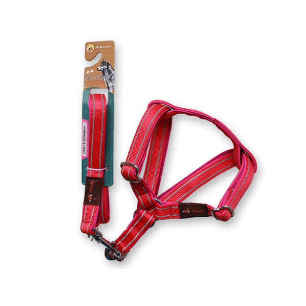 RED LargeChest Straps  pet Adjustable Dog Chain Chest Strap (color   Purple, Size   Small)