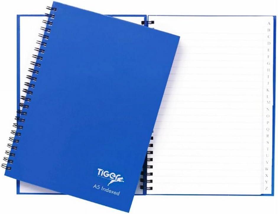 A5 Ruled Notebook 80-Sheet Blue Hardback Wirebound Pack of 2