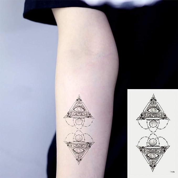 Oottati 2 Hojas Pequeño Lindo Tatuaje Temporal Tattoo Ojo ...