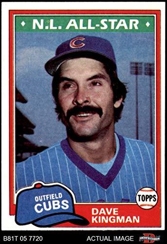 - 1981 Topps # 450 Dave Kingman Chicago Cubs (Baseball Card) Dean's Cards 5 - EX Cubs