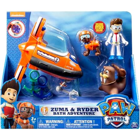 Amazon Com Paw Patrol Exclusive Zuma And Ryder Bath Adventure Set