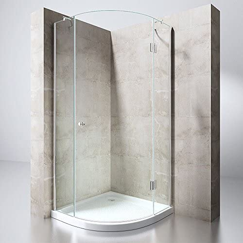 durovin baños lujo moderno Ravenna 6 ducha almacenaje transparente brillo Nano 8 mm de grosor con bisagra sin Marco grueso cristal de seguridad, Sin plato de ducha, gracias (No Shower Tray Thanks),