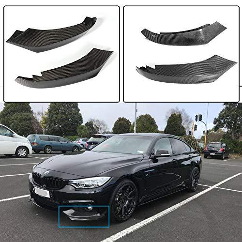 JC SPORTLINE fits BMW 4 Series F32 F33 F36 M Sport 420i 428i 435i 440i 2014-2018 Carbon Fiber Front Splitters Apron Bumper Spoiler Lip (Non M & Standard Bumper)