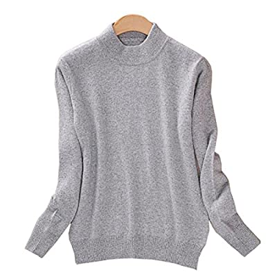 Facecozy Women Cashmere Blend Sweater Turtleneck Soft Warm Pullover Casual Style