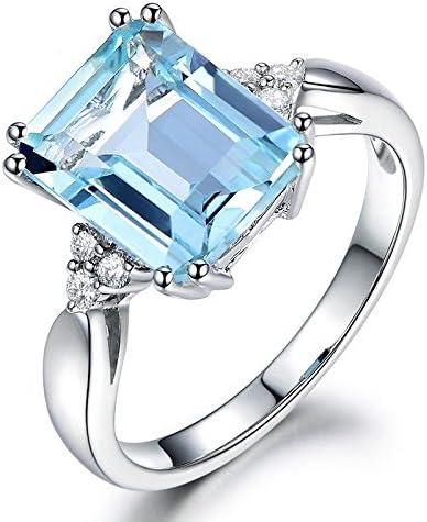Luxurious Citrine 925 Silver Emerald Ring Fashion Women Wedding Jewelry Sz 5-10