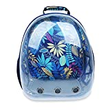 Transparent Pet Carrier Backpack for Cat Kitten Doggie Puppy, Aolvo Waterproof Carrier Purse, Portable Bubble Carrying Backpack, Travel Knapsack Bag, Baby Carrier for Small Medium Breed Pet - Blue