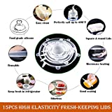 Silicone Stretch Lids 15 Pack of Reusable Food