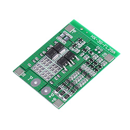 Life Balance Charger - 3 Series 12V 15A Lithium Protection Board Li-ion Lithium Battery 18650 Charger PCB BMS (With Balance)