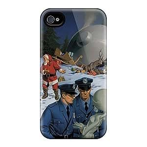 Hot QSHSqGq2164lISft Ufo Crash Tpu Case Cover Compatible With Iphone 4/4s