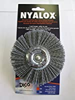 Dico 541-772-4 Nyalox Wheel Brush 4-Inch Grey 80 Grit