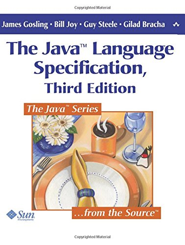 The Java Language Specification, 3rd Edition by Addison Wesley