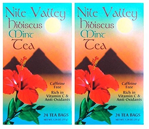 Nile Valley Mint Hibiscus Tea - Pack of 2 (24 Tea Bags, 1.24 Oz. ()