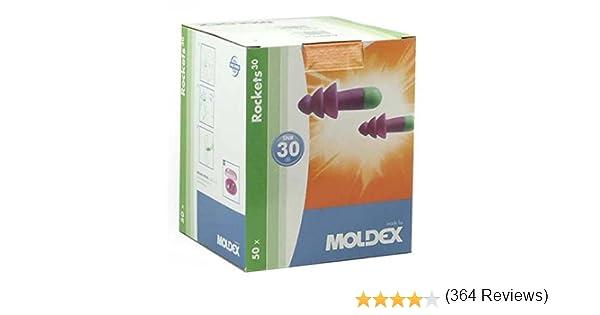 cohetes 6400 /Caja Moldex tapones de o/ídos 50/pares reutilizable tapones para los o/ídos/