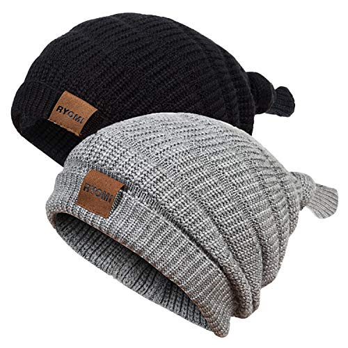 RYOMI Baby Boy Beanie Hat Winter Warm Lamb Cashmere Fleece Lined Hat Toddler Infant Kids Knit Cap Girls Boys [0-5years]