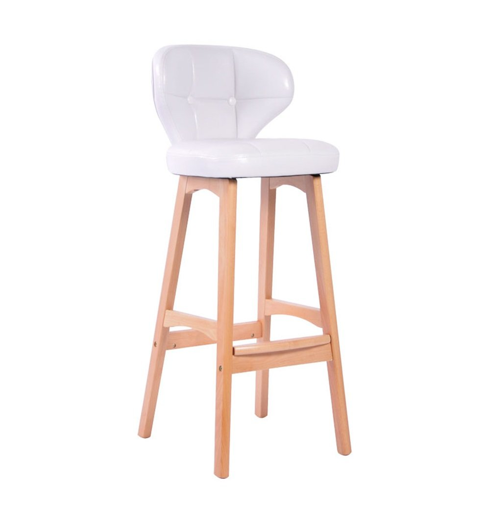 ZRX-カウンターチェア ソリッドウッドバーチェアキッチン朝食椅子/ハイダイニングチェアレトロPUレザークッションバースツール/背の高いスツール (色 : #3) B07F3RVXMZ #3 #3