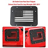 Air Outlet Cover Rear Door Tailgate Exhaust Vent Panel for Jeep Wrangler 2007-2017