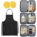 Blisstime Set of 42 Clay Sculpting Tool Wooden Handle Pottery Carving Tool Kit