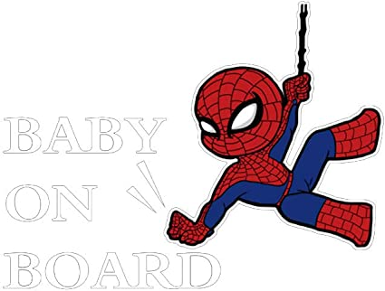 Mini Star Lord on board Guardians of the Galaxy vinyl decal sticker sign safety