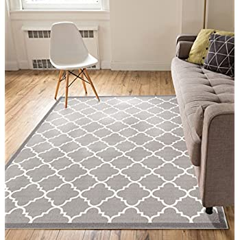 Amazon Com Grey Silver 3x5 3 3 Quot X 4 7 Quot Area Rug