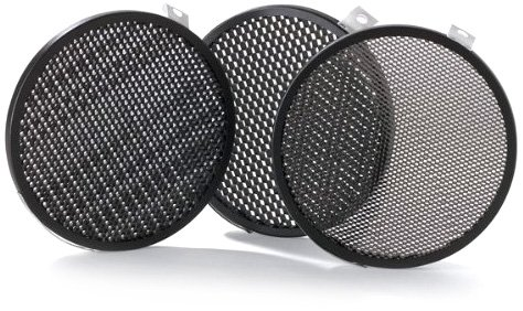 Bowens BW-1864 Set of 3 Disc Grids, 1/8-Inch, 3/16-Inch, 1/4-Inch Fits BW-1863 and BW-1882 (Black)