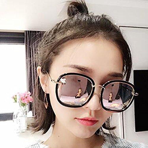 Red Personalidad Femeninas KAI Color Gafas LE Coreana Modelo Gafas Gm Red Pink Gafas Sol Estrella Femenina de de Hembra Redondas Azul Marea sol Nuevas Polarizadas 4xqxwIfaR