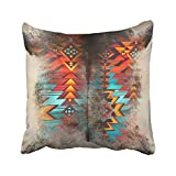 Distressed Cowhide And Western Print Design Cushions Case Throw Pillow Cover For Sofa Home Decorative Pillowslip Gift Ideas Household Pillowcase Zippered Pillow Covers 18X18Inch