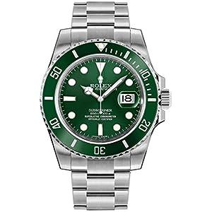 "Best Epic Trends 518j2XWB1EL._SS300_ Rolex Submariner ""Hulk"" Green Dial Men's Luxury Watch M116610LV-0002"