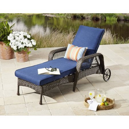 Better Homes and Gardens Colebrook Chaise Lounge, Blue