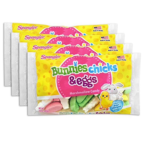 Spangler Bunnies Chicks and Eggs Marshmallow Easter Candy 10 oz