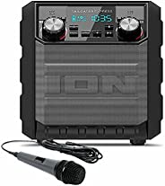 ION Audio Tailgater Express | Compact Water-Resistant Wireless Speaker System with AM/FM Radio & USB Charg