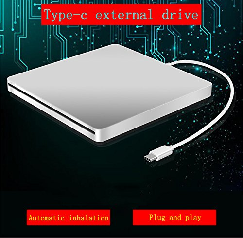 USB-C Superdrive External Drive Burner DVD CD VCD Reader +/- RW Rewriter/Writer/Player with High Speed Data for latest Mac/MacBook Pro/Laptop/Desktop Support Windows/Mac OSX (silver) by fhong (Image #5)'