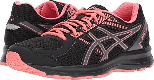 ASICS Womens Jolt Running Shoe Fabric Low Top Lace, Black/Carbon/Peach, Size 8.5