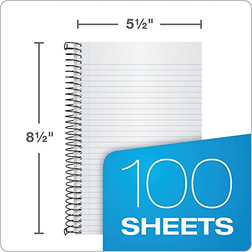TOPS Classified Business Notebook, 5.5 x 8.5-Inch, College Rule, 100 Sheets per Book, Ruby Plastic Cover (73505) by Tops (Image #1)