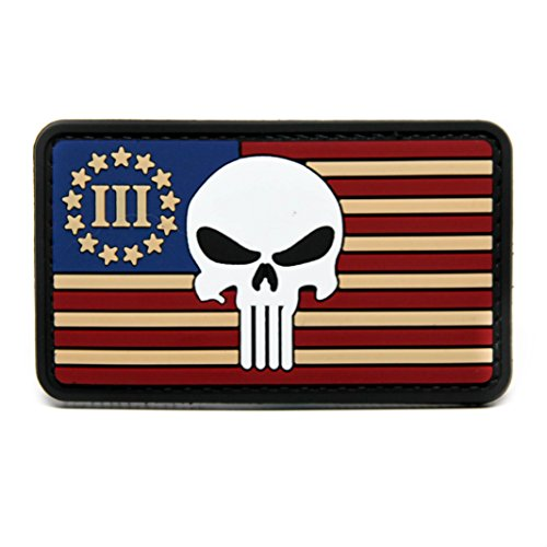 Oregon Logo Square (American Flag, Punisher and Three Percenter PVC Rubber Morale Patch Military Morale Patch Hook Backed By NEO Tactical Gear)
