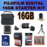 Accessory Saver 16GB Fujifilm FinePix HS25 HS25EXR+ NiMH Battery/Charger Bundle And For many More Cameras, Nikon, Sony, Canon, Pentax, Kodak,