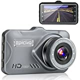 Dash Cam - EPICKA 1080P Full HD Car DVR Dashboard Camera, Driving Recorder with 3 Inch LCD Screen, 170 Degree Wide Angle, WDR, G-Sensor, Motion Detection, Loop Recording (DC1000)