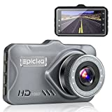 Dash Cam – EPICKA 1080P Full HD Car DVR Dashboard Camera, Driving Recorder with 3 Inch LCD Screen, 170 Degree Wide Angle, WDR, G-Sensor, Motion Detection, Loop Recording (DC1000)