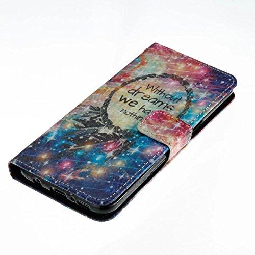 Samsung Galaxy S8 Funda peil con Tapa, Vandot 3in1 PU Cuero Capas Caja Carcasa de Teléfono Concha Shell Bumper Wallet Flip Case Cover con Soporte Función Tarjeta Ranura Billetera Botón Magnético para  Forever 11